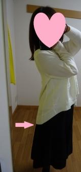 「着てみました♡ur's(ユアーズ)のイレギュラーヘムタートルニットプルオーバー #ユアーズ」の画像(4枚目)