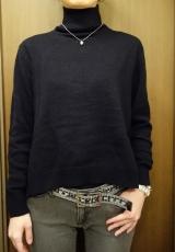 「   [着画] 座談会で大活躍!titivate☆UR'S イレギュラーヘムタートルニットプルオーバー 」の画像(14枚目)