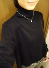 「   [着画] 座談会で大活躍!titivate☆UR'S イレギュラーヘムタートルニットプルオーバー 」の画像(1枚目)