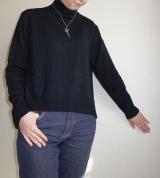 「   [着画] 座談会で大活躍!titivate☆UR'S イレギュラーヘムタートルニットプルオーバー 」の画像(6枚目)