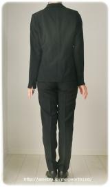 ◆着画レポ◆自宅で洗える!「夢展望」のストレッチアンクル丈パンツスーツの画像(18枚目)