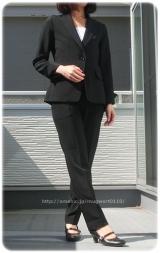 ◆着画レポ◆自宅で洗える!「夢展望」のストレッチアンクル丈パンツスーツの画像(2枚目)