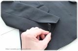 ◆着画レポ◆自宅で洗える!「夢展望」のストレッチアンクル丈パンツスーツの画像(10枚目)