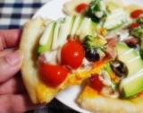 「糖質50%offの生地を使ったピザ@明治」の画像(10枚目)