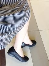 「ムレない&足が痛くならない万能ペタ靴  #アーチフィッター  #132フラットプレーンパンチング #AKAISHI」の画像(7枚目)