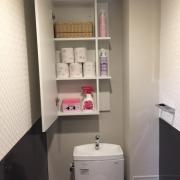 「トイレとリネン庫の収納です♪」バス、サニタリーの収納術募集!★3名様豪華商品プレゼント!の投稿画像