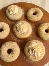格安!ドーナツメーカーで簡単おやつ♪ 焼きドーナツ♡ きな粉&ホイップクリームでカフェ風の画像(8枚目)