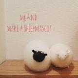 羊の毛で作った羊さん、