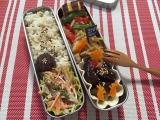 食物繊維たっぷり♪酢ベジ&青椒肉絲弁当(旦那)の画像(1枚目)