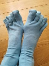 「履きやすいシルク5本指ソックス」を履いてみましたの画像(2枚目)