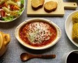 「明治の赤い方のリゾット『完熟トマトと十勝産チーズのリゾット』は前の赤いのとは別商品だった!」の画像(1枚目)