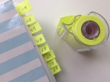 貼ってはがせるテープ型フセン ♪ 『メモックロールテープ』の画像(4枚目)
