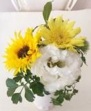 お花買いました
