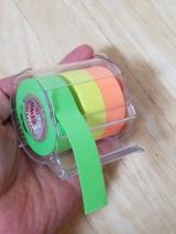 「ロール状のフセン☆メモックロールテープ紙タイプ(蛍光紙)★」の画像(3枚目)