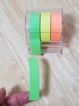 「ロール状のフセン☆メモックロールテープ紙タイプ(蛍光紙)★」の画像(4枚目)