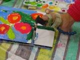 「口と足で描いた絵を見に行ってきました!」の画像(3枚目)
