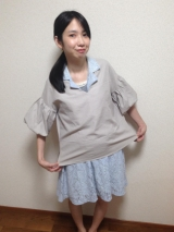 「今年も流行中! ふんわりボリューム袖が可愛い♡ 2wayボリュームスリーブプルオーバー」の画像(5枚目)