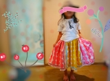 「   久しぶりに♡100均のハンカチ4枚で次女のスカート♡ 」の画像(8枚目)