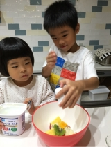 子供達が作るフルーツサラダ☆の画像(5枚目)