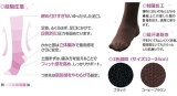 足首からふくらはぎまでキュッと脚すっきり。シャルレのハードサポートソックスの画像(7枚目)
