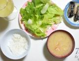「今朝の体重😋現状維持中! 朝食は野菜たっぷりで!!」の画像(1枚目)