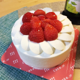 マイバースデイに、美味しい苺のデコレーションケーキ(^^♪の画像(4枚目)