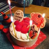 マイバースデイに、美味しい苺のデコレーションケーキ(^^♪の画像(6枚目)
