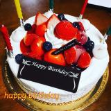 マイバースデイに、美味しい苺のデコレーションケーキ(^^♪の画像(9枚目)