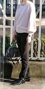 バルーン袖ニットトップスの画像(3枚目)