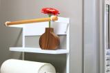 コレ便利!冷蔵庫にペタンッと貼り付く北欧風の収納ラックで見せるキッチン収納にチャレンジ!の画像(8枚目)