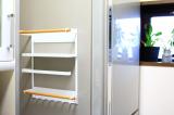 コレ便利!冷蔵庫にペタンッと貼り付く北欧風の収納ラックで見せるキッチン収納にチャレンジ!の画像(4枚目)