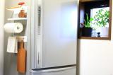 コレ便利!冷蔵庫にペタンッと貼り付く北欧風の収納ラックで見せるキッチン収納にチャレンジ!の画像(9枚目)
