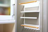 コレ便利!冷蔵庫にペタンッと貼り付く北欧風の収納ラックで見せるキッチン収納にチャレンジ!の画像(2枚目)