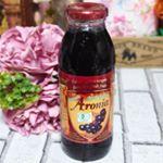 お試しさせて頂きました!有機JAS認証・ブルガリア産有機アロニア100%果汁ポリフェノールやアントシアニンを豊富に含むため苦味がありますがケフィアやヨーグルトにトッピングすると苦手が緩和され美…のInstagram画像