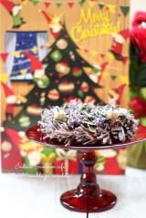クリスマスの飾り付け。キラキラ「幸せなガラス」のケーキスタンドの画像(1枚目)