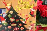 クリスマスの飾り付け。キラキラ「幸せなガラス」のケーキスタンドの画像(2枚目)