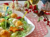 函館あさひ荒ほぐし鮭明太子風味でクリスマスサラダの画像(5枚目)