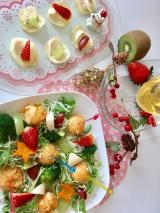 函館あさひ荒ほぐし鮭明太子風味でクリスマスサラダの画像(4枚目)