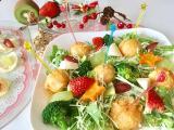 函館あさひ荒ほぐし鮭明太子風味でクリスマスサラダの画像(3枚目)
