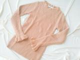 「【休日code】首元と袖のフリルが可愛い♡GRL フリルデザインニットトップスレポ」の画像(10枚目)