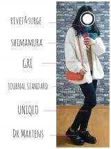 「【休日code】首元と袖のフリルが可愛い♡GRL フリルデザインニットトップスレポ」の画像(1枚目)