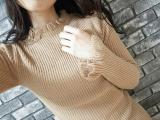 「【休日code】首元と袖のフリルが可愛い♡GRL フリルデザインニットトップスレポ」の画像(6枚目)