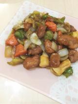 「フライパン調理5分!玉ねぎ1個だけで作れる中華名菜 酢豚」の画像(1枚目)
