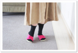 「冷え性の方必見☆AKAISHI*履くだけ冷えとりルームシューズ*」の画像(4枚目)