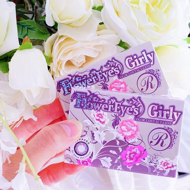 口コミ投稿:⠒̫⃝♡*最近愛用の縁ありコンタクト💕*Flower Eyes Girlyサイズ DIA:14.2mmカラー:クレ…