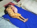 ベッドを包む防水シーツの画像(6枚目)