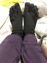 温むすびの5本指ソックスが届いた☆の画像(2枚目)