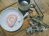 「【うちカフェ】ひな祭りにぴったりなピンクスイーツ♪いちごのピンクロールケーキ」の画像(1枚目)