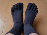 温むすびの5本指ソックス試し履き!の画像(1枚目)