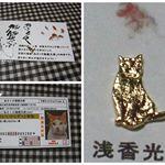 かわいい開運雑貨「あさくさ福猫太郎」の「24K 純金メッキ豪華!!あさくさ福猫太郎 豆お守り」猫好きの私にはたまりませ~ん。(*´ω`*)いいことあるよね、きっと~♬ #あさくさ福猫太郎 …のInstagram画像